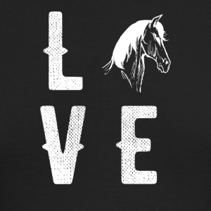 Love horses - Men's Long Sleeve T-Shirt by Next Level