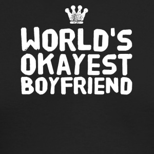 world's okayest boyfriend - Men's Long Sleeve T-Shirt by Next Level