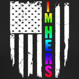 IM HERS RAINBOW FLAG T-Shirt - Men's Long Sleeve T-Shirt by Next Level