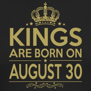 Kings are born on August 30 - Men's Long Sleeve T-Shirt by Next Level