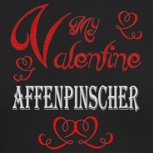 A romantic A romantic Valentine with my Affenpinsc - Men's Long Sleeve T-Shirt by Next Level