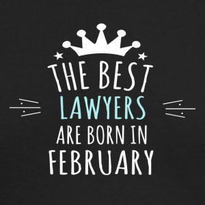 Best LAWYERS are born in february - Men's Long Sleeve T-Shirt by Next Level