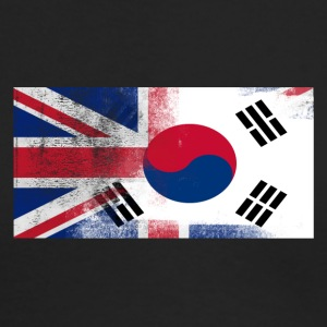 British Korean Half South Korea Half UK Flag - Men's Long Sleeve T-Shirt by Next Level