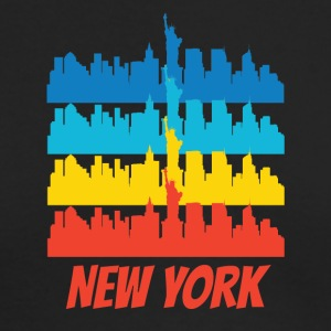 Retro New York City Skyline Pop Art - Men's Long Sleeve T-Shirt by Next Level