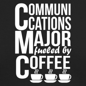 Communications Major Fueled By Coffee - Men's Long Sleeve T-Shirt by Next Level