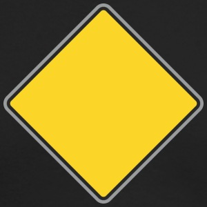 Road_Sign_yellow - Men's Long Sleeve T-Shirt by Next Level