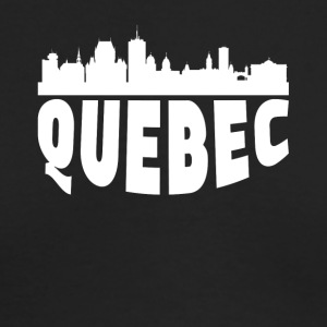 Quebec Canada Cityscape Skyline - Men's Long Sleeve T-Shirt by Next Level