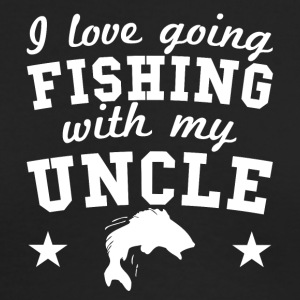 I Love Going Fishing With My Uncle - Men's Long Sleeve T-Shirt by Next Level