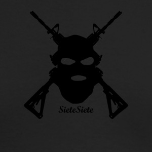 sietesiete gun logo - Men's Long Sleeve T-Shirt by Next Level