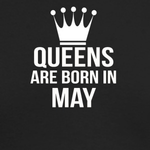 queens are born in may - Men's Long Sleeve T-Shirt by Next Level
