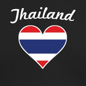 Thailand Flag Heart - Men's Long Sleeve T-Shirt by Next Level