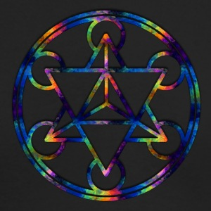 Fractal Tetrahedron Psychedelic Sacred Geometry - Men's Long Sleeve T-Shirt by Next Level