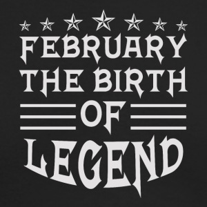 February The Birth of Legend - Men's Long Sleeve T-Shirt by Next Level