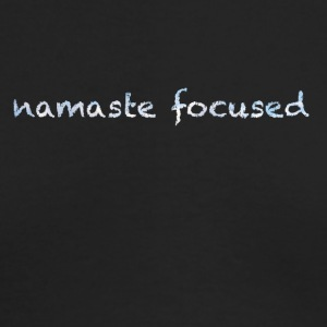 namaste focused clouds - Men's Long Sleeve T-Shirt by Next Level