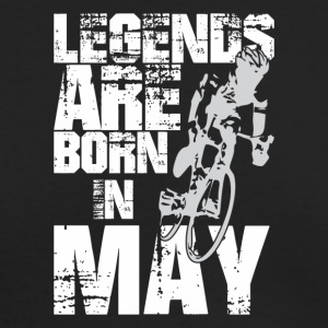 Legends Are Born In May Cycling - Men's Long Sleeve T-Shirt by Next Level