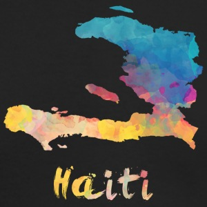 Haitian Watercolor Country - Men's Long Sleeve T-Shirt by Next Level