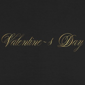 happy-valentines day-gold-inscription-cool - Men's Long Sleeve T-Shirt by Next Level