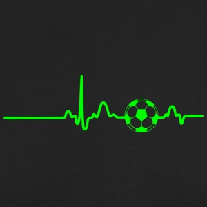 EKG HEARTBEAT SOCCER green - Men's Long Sleeve T-Shirt by Next Level