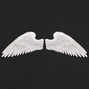 angel wings angelic wings vector - Men's Long Sleeve T-Shirt by Next Level