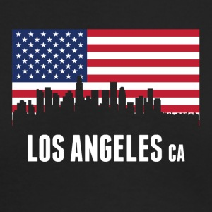 American Flag Los Angeles Skyline - Men's Long Sleeve T-Shirt by Next Level