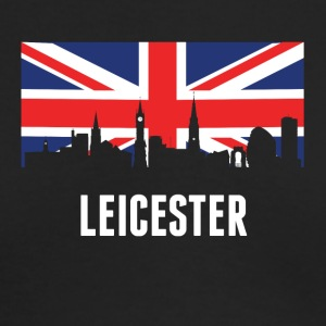British Flag Leicester Skyline - Men's Long Sleeve T-Shirt by Next Level