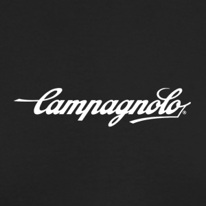 CAMPAGNOLO SCRIPT LOGO white - Men's Long Sleeve T-Shirt by Next Level