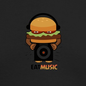 EAT MUSIC - Men's Long Sleeve T-Shirt by Next Level