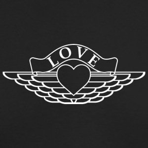 Love - Wings Design (White) - Men's Long Sleeve T-Shirt by Next Level