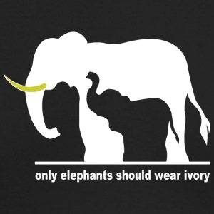 Only elephants should wear ivory - Men's Long Sleeve T-Shirt by Next Level
