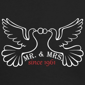Mr And Mrs Since 1961 Married Marriage Engagement - Men's Long Sleeve T-Shirt by Next Level