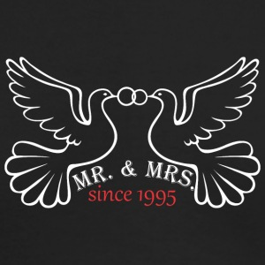 Mr And Mrs Since 1995 Married Marriage Engagement - Men's Long Sleeve T-Shirt by Next Level