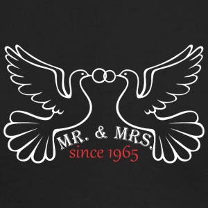 Mr And Mrs Since 1965 Married Marriage Engagement - Men's Long Sleeve T-Shirt by Next Level