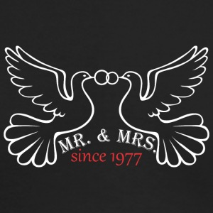 Mr And Mrs Since 1977 Married Marriage Engagement - Men's Long Sleeve T-Shirt by Next Level
