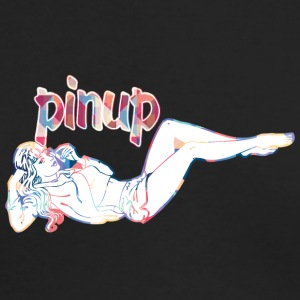 pinup_girl_talking_with_phone - Men's Long Sleeve T-Shirt by Next Level