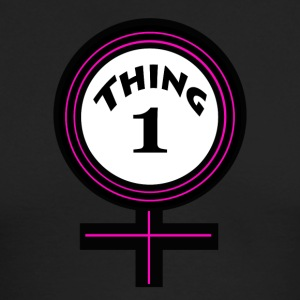 thing 1 female - Men's Long Sleeve T-Shirt by Next Level