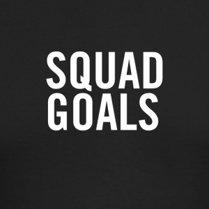 Squad Goals White - Men's Long Sleeve T-Shirt by Next Level