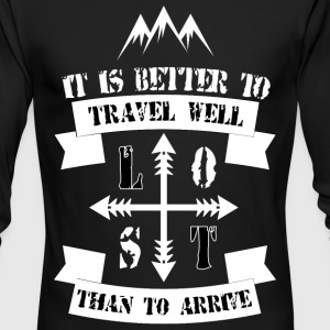 Travel Quote - Men's Long Sleeve T-Shirt by Next Level