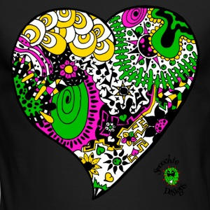 Funky heart design pink yellow green - Men's Long Sleeve T-Shirt by Next Level