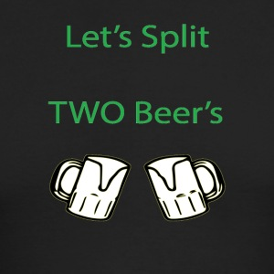 Split 2 beers - Men's Long Sleeve T-Shirt by Next Level