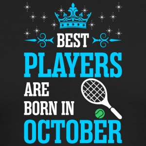 Best Players Are Born In October - Men's Long Sleeve T-Shirt by Next Level