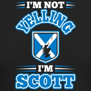 Im Not Yelling Im Scott - Men's Long Sleeve T-Shirt by Next Level