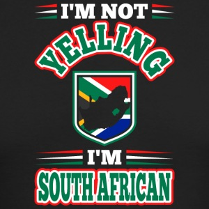 Im Not Yelling Im South African - Men's Long Sleeve T-Shirt by Next Level