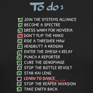 Commander 039 s To Do List - Men's Long Sleeve T-Shirt by Next Level