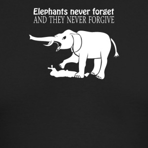 ELEPHANTS NEVER FORGET - Men's Long Sleeve T-Shirt by Next Level