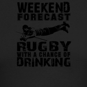 Weekend Rugby Forecast Beer Pub Drink - Men's Long Sleeve T-Shirt by Next Level