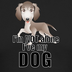 I am not alone i have my dog - Men's Long Sleeve T-Shirt by Next Level