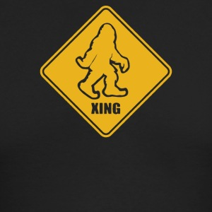 Big Foot Xing Big Foot Crossing Sasquatch - Men's Long Sleeve T-Shirt by Next Level