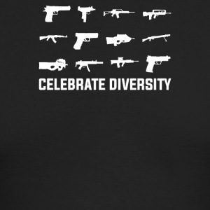 Celebrate Diversity Funny - Men's Long Sleeve T-Shirt by Next Level