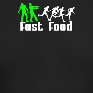 Zombie Fast Food - Men's Long Sleeve T-Shirt by Next Level