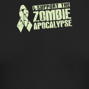 I Support The Zombie Apocalypse - Men's Long Sleeve T-Shirt by Next Level